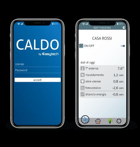 Sistema CALDO APP Smartphone IOS Android