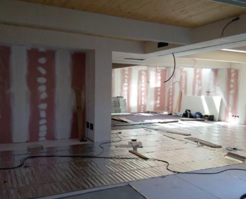 Easytech sistema CALDO Piccola Fraternità e-membrane floor alluminio